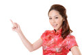 Asian woman introduce Stock Images