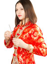 Asian woman in Kimono Royalty Free Stock Photo