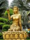Asian woman mythological statue