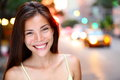 Asian woman portrait in New York City Stock Photos