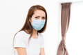 Asian woman wear with protective face mask Royalty Free Stock Photo