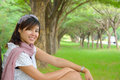 Asian women at the park portrait young woman Stock Photos