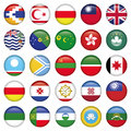 Asiatic round flags zip includes dpi jpg illustrator cs eps vector with transparency Stock Photos