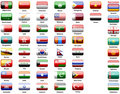 Asiatics flags of countries Stock Photo