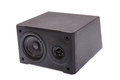 Aside photo of black audio speaker Royalty Free Stock Photo