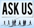 Ask us Contact Information Assistance Advice Concept Royalty Free Stock Photo