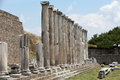 The asklepion in pergamon asclepeion ancient city turkey Stock Photography