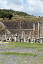 The asklepion in pergamon view to theater of pergamum Stock Image