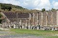 The asklepion in pergamon view to theater of pergamum Royalty Free Stock Image