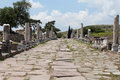 The asklepion in roman city pergamum via tecta sacred street leading to Royalty Free Stock Photography