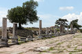 The asklepion in roman city pergamum via tecta sacred street leading to Stock Photos