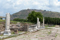 The asklepion in roman city pergamum via tecta sacred street leading to Stock Photo