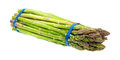Asparagus Bundle On White Background Side Stock Photos