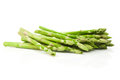 Asparagus bundle on white green and fresh background Royalty Free Stock Image