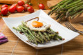 Asparagus cooked with eggs Royalty Free Stock Photo