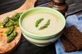 Asparagus cream soup Royalty Free Stock Photo