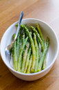 Asparagus with a pinch of salt Royalty Free Stock Photo