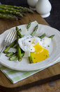 Asparagus with poached egg Royalty Free Stock Photography