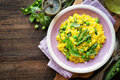 Asparagus risotto Royalty Free Stock Photo
