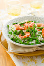 Asparagus shrimp risotto Royalty Free Stock Photos
