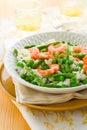 Asparagus shrimp risotto Royalty Free Stock Photo