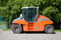 Asphalt compactor road static roller Royalty Free Stock Photography