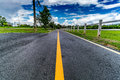 Asphalt Country road Royalty Free Stock Photo
