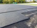 Asphalt Driveway, Parking Lot Repair Royalty Free Stock Photo