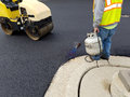 Asphalt Driveway, Parking Lot Repair Royalty Free Stock Photo