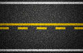 Asphalt highway with road markings texture