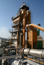 Asphalt mixing plant Royalty Free Stock Images