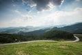 Asphalt mountain road in Slovakia
