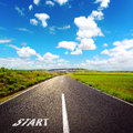 Asphalt road concept Royalty Free Stock Photo