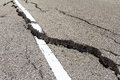 Asphalt road crack Royalty Free Stock Photo