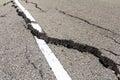 Asphalt road crack