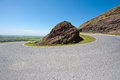 Asphalt road golan heights early spring Stock Photography