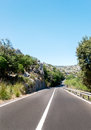 Asphalt road highway somewhere in spain Royalty Free Stock Photo