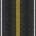 Asphalt road with marking lines illustration Stock Photo