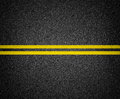 Asphalt road marking top view background Royalty Free Stock Images