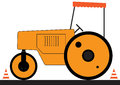 Asphalt road roller Stock Photography