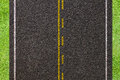 Asphalt road texture yellow and white line on Stock Photography