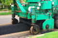 Asphalt spreader on a repaving project in roseburg oregon Stock Images