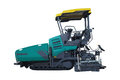 Asphalt spreading machine under the white background Royalty Free Stock Photography
