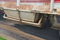 Asphalt truck spreader on a repaving project in roseburg oregon Stock Photography