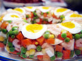 Aspic with eggs Royalty Free Stock Images