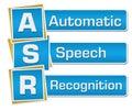 ASR - Automatic Speech Recognition Blue Squares Vertical