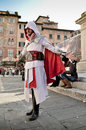 Assassins creed at lucca comics and games a cosplayer dressed up with costumes during the festival is an annual Stock Photo