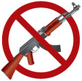 Assault Rifle AK 47 Gun Ban Illustration Stock Photo