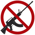 Assault Rifle AR 15 Gun Ban Illustration Stock Photography