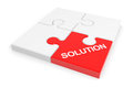 Assembled solution puzzle. Stock Image